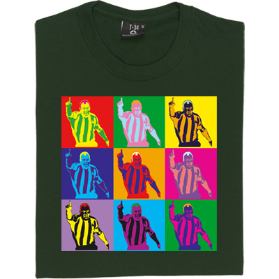 Alan Shearer Warhol T-Shirt. Nine Alan Shearers in the style of Andy Warhol's famous pop art prints. Complete with...