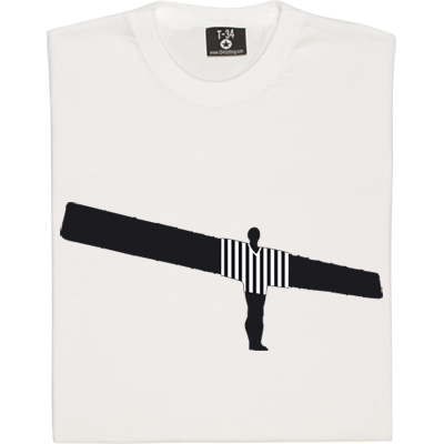 Angel Of The North NUFC Shirt Royal Blue Men's T-Shirt. Anthony Gormley's famous work of Art and beloved landmark of the... - click to zoom-in