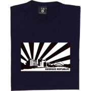 Geordie Republic Skyline T-Shirt. Stylised modern day image depicting the skyline of Newcastle-upon-Tyne, capital of the...