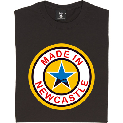 Made In Newcastle Black Long-Sleeved Men's T-Shirt. Were you made in Newcastle? Aye you say? Well here's your chance... - click to zoom-in