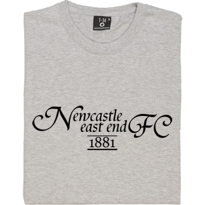 Newcastle East End T-Shirt. The forerunners of Newcastle United, formed in 1881 and merged with Newcastle West End...