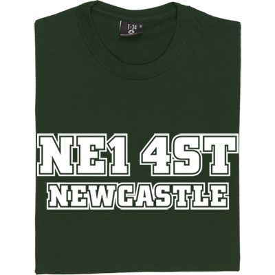 Newcastle United Postcode T-Shirt. St. James' Park NE1 4ST stick it in the old sat nav and find yourself at the home...