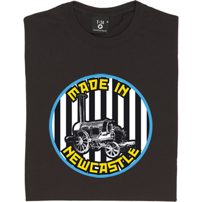 Stephenson's Rocket Made In Newcastle T-Shirt. Built in 1829 in Newcastle Upon Tyne. A bona fide Geordie creation, the...