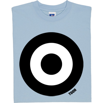 Toon Roundel T-Shirt. A classic sixties mod roundel given a Newcastle United makeover in Toon black and white.