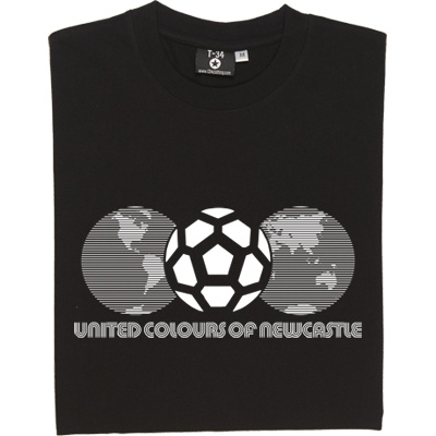 United Colours of Newcastle (Globes) T-Shirt. With a nod to a classic World Cup logo and marketing slogan. Celebrate...