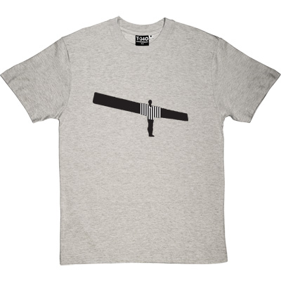 Angel Of The North NUFC Shirt Melange Grey/Ash Men's T-Shirt. Anthony Gormley's famous work of Art and beloved...