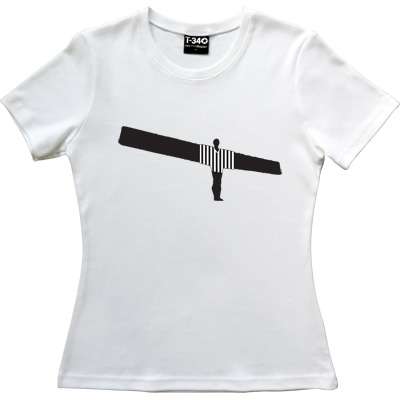 Angel Of The North NUFC Shirt White Women's T-Shirt. Anthony Gormley's famous work of Art and beloved landmark of the...