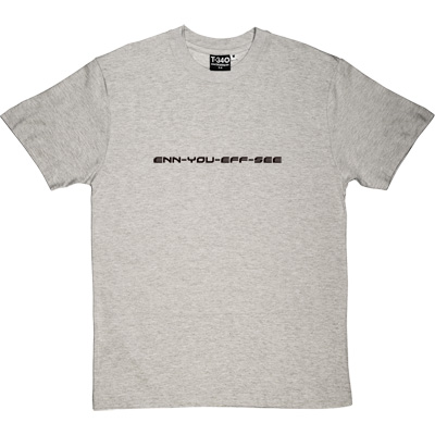enn you eff see Melange Grey/Ash Men's T-Shirt. Purely and simply a phonetic version of Newcastle United Football Club. - click to zoom-in