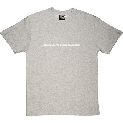 enn you eff see Melange Grey/Ash Men's T-Shirt. Purely and simply a phonetic version of Newcastle United Football Club.
