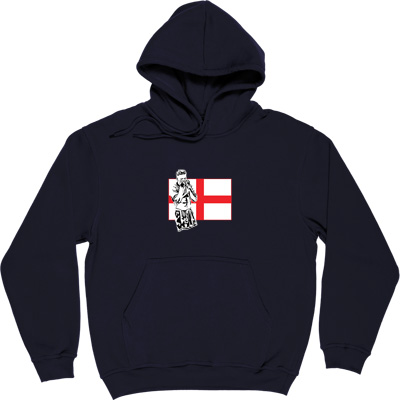 Gazza Navy Blue Hooded-Top. Toon legend, Gazza depicted in front of a St. George's flag. Who could forget that moment...