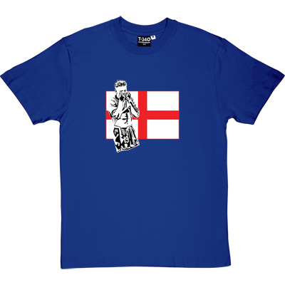 Gazza Royal Blue Men's T-Shirt. Toon legend, Gazza depicted in front of a St. George's flag. Who could forget that...