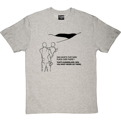 Geordie Dad And Lad Melange Grey/Ash Men's T-Shirt. Dad, what's that dark place over there? That's Sunderland, son...