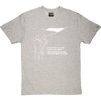 Geordie Dad And Lad Melange Grey/Ash Men's T-Shirt. Dad, what's that dark place over there? That's Sunderland, son... - click to zoom-in