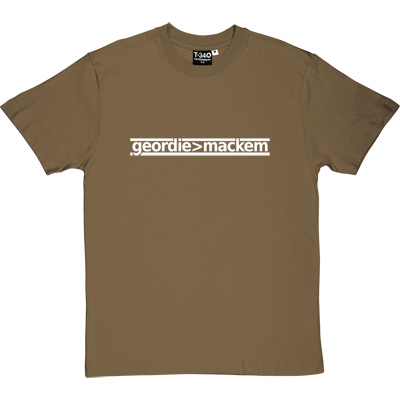 Geordie Greater Than Mackem Forest Green/Khaki Men's T-Shirt. The simple formulae are often the most fundamental. This...