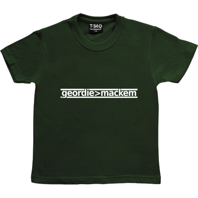 Geordie Greater Than Mackem Racing Green Kids' T-Shirt. The simple formulae are often the most fundamental. This bit...