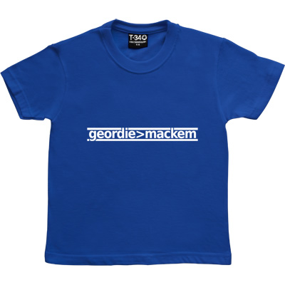 Geordie Greater Than Mackem Royal Blue Kids' T-Shirt. The simple formulae are often the most fundamental. This bit of...
