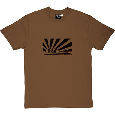 Geordie Republic Skyline Brown/Hazelnut Men's T-Shirt. Stylised modern day image depicting the skyline of... - click to zoom-in