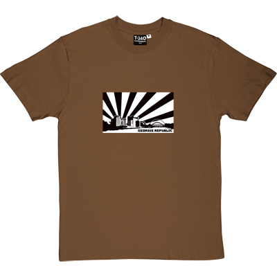 Geordie Republic Skyline Brown/Hazelnut Men's T-Shirt. Stylised modern day image depicting the skyline of...