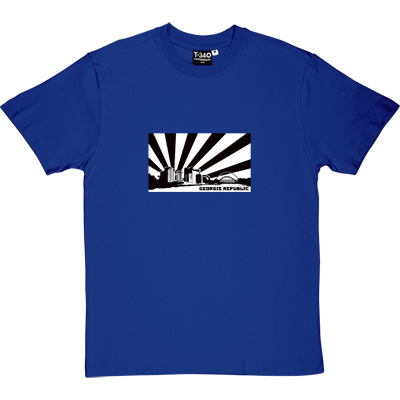 Geordie Republic Skyline Royal Blue Men's T-Shirt. Stylised modern day image depicting the skyline of...