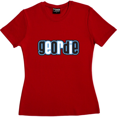 Geordie Red Women's T-Shirt. Resident of Tyneside. Plain and simple. - click to zoom-in