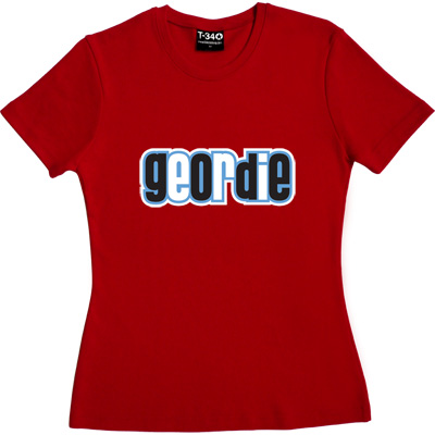 Geordie Red Women's T-Shirt. Resident of Tyneside. Plain and simple.
