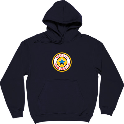 Made In Newcastle Navy Blue Hooded-Top. Were you made in Newcastle? Aye you say? Well here's your chance to tell the...