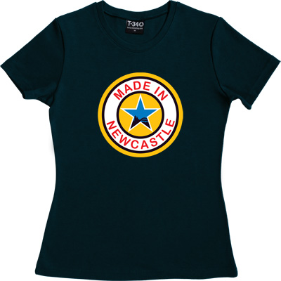 Made In Newcastle Navy Blue Women's T-Shirt. Were you made in Newcastle? Aye you say? Well here's your chance to tell...