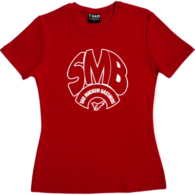 Sad Mackem Bastards Red Women's T-Shirt. Based on the classic Geordie t-shirt design as modelled by Lee Clark, and... - click to zoom-in