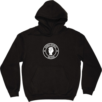 Geordie Republic Districts (White Print) Black Hooded-Top. Be proud of your heritage with this design of the classic...