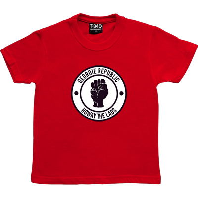 Geordie Republic Howay The Lads Red Kids' T-Shirt. Based on the famous Northern Soul clenched fist of the 1960s, our...